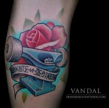 skate trucks tattoo skin design tattoo
