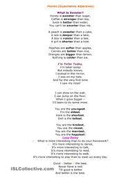 poems superlative adjectives worksheet free esl printable