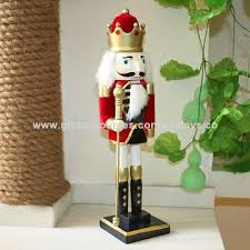 Decorative Nutcrackers China Wooden Christmas Nutcrackers Toy Doll For Kids Measures