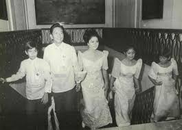 File President Ferdinand E Marcos And The First Family Ascending