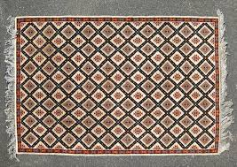Tunisian Rug Tunisian Rug Diamond Pattern In Browns And Tans L6bbb6