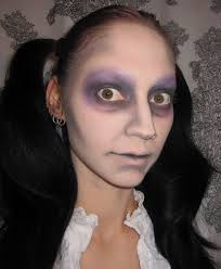 glitter is my dead doll halloween costume makeup look