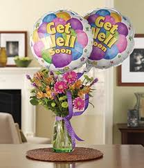 balloons delivered get well bouquet with balloons at from you flowers