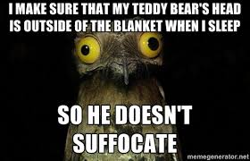 Meme Teddy Bear - i dont want to kill my teddy bear meme guy
