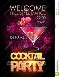cocktail party poster vector illustration cartoondealer com