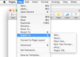 Word To Pdf Pages For Mac Export A Pages Document To Pdf Or Another File Format
