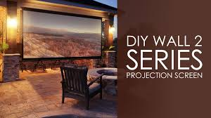 elite screens diy wall 2 series outdoor projection screen youtube