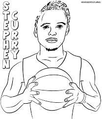 stephen curry coloring pages coloring pages to download and print