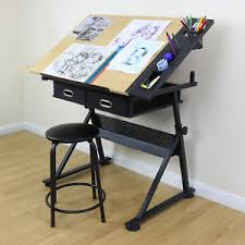 Drafting Table Adjustable Drawing Board Drafting Table With Stool Craft Architect
