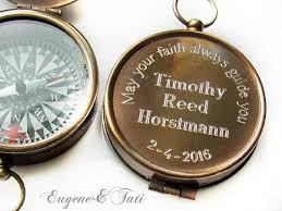 confirmation gift for boy baptism gift engraved compass baptism gift boy confirmation gift
