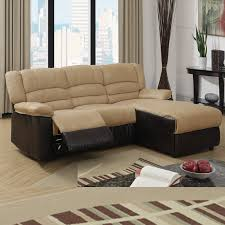 Small Leather Sectional Sofas Sofa Amazing Small Sectional Sofa With Recliner Rectangle Red