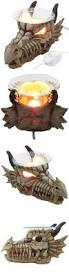 1 x decorative snarling magical dragon skull electric oil warmer