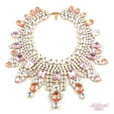 big crystal necklace images Extra big crystal necklace clear crystal and pink lilien czech jpg