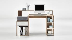 Platzsparender Schreibtisch Bolton Schreibtisch Bürotisch Pc Tisch In Eiche Und Weiß