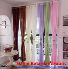 tfr 100 polyester cheap flame retardant white sheer fabric for