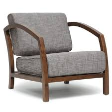 Polyester Upholstery Attractive Accent Chairs With Arms Solid Wood Frame Material Light