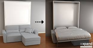 Wall Folding Bed Great Murphy Sofa Bed With Small Space Solution A Diy Murphy Bed