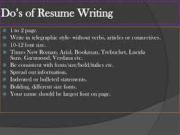 Resume Font Size 10 Resume Writing