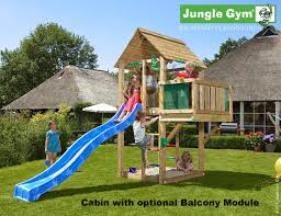 jungle gym cabin tower 1 45m platform height with double swing