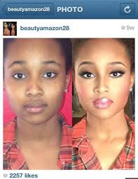 makeup transformation before and after black