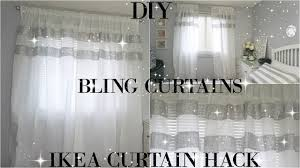 diy curtains totally dazzled diy bling curtains ikea curtain