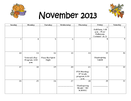 november 2013 calendar thanksgiving day divascuisine