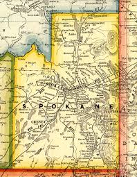 Washington Map by Spokane County Washington Maps And Gazetteers