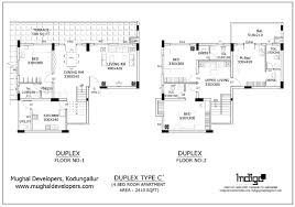Duplex Plan 4 Bedroom Hall Kitchen 4bhk Duplex Flat Mughal Apartments