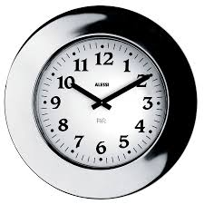 Wall Clock Design Alessi 16 Inch Momento Decorative Wall Clock Stainless Modern