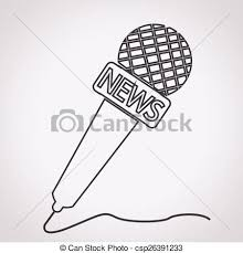 vectors of news microphone icon csp26391233 search clip art