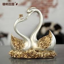 wedding gift ornaments modern simple european high grade gold swan ornaments
