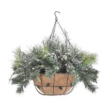 christmas hanging baskets with lights best christmas hanging baskets with lights