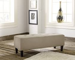 Ashley Furniture Bedroom Benches Ashley 2810108 Sinko Quartz Tone Fabric Oversized Accent Ottoman Bench