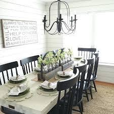 white farmhouse table black chairs farmhouse dining table decor dining room ideas amusing white