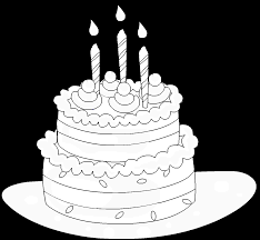 a birthday cake free online coloring page