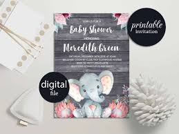 jungle baby shower invite elephant baby shower invitation safari baby shower