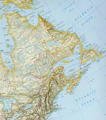 map canada east coast map of east coast canada major tourist attractions maps