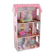 kidkraft penelope soft pastel wooden play dollhouse with furniture