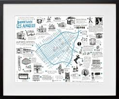 Map Of Downtown Los Angeles Illustrated Map Of Downtown La Signed By Wendy U2013 Wendy