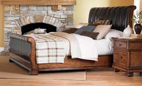 King Size Leather Sleigh Bed Affordable Tufted Leather Sleigh Bed One Thousand Designs
