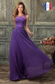 robe violette mariage robe de cocktail violette longue dentelle et perle carla