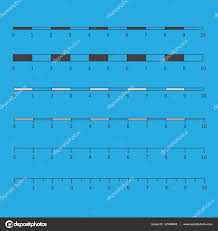 Map Scales Vector Map Scales Graphics For Measuring Distances Map Scales V