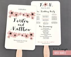 Fan Style Wedding Programs Watercolor Poppies Wedding Program Fan Warm Colors