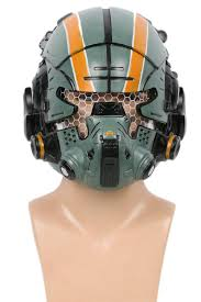 titanfall 2 jack cooper helmet green resin glow eyes mask for