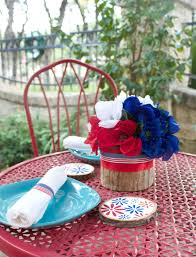 Fourth Of July Table Decoration Ideas Floral Fourth Of July Table Decor Diy