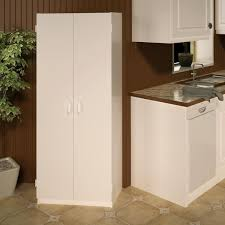 24 inch pantry cabinet ameriwood home flynn white wood 24 inch double door kitchen pantry