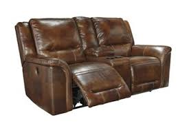 Reclining Sofas Leather Signature Design By Jayron Leather Reclining Sofa Reviews