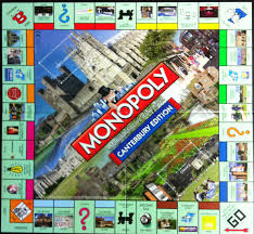 monopoly map canterbury edition monopoly board launched today canterbury
