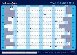 printable 2015 year planner uk collins a1 year wall planner for 2015 blue collins amazon co uk