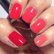 coral polish comparison showdown newsie nail novice
